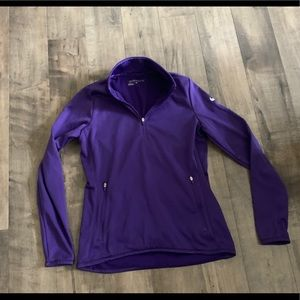 Nike golf long sleeve purple fleece size small